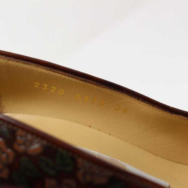 DOLCE GABBANA Brown Floral Leather Pumps US 6 EU 36 29177 5