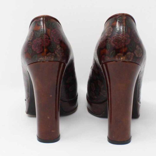 DOLCE GABBANA Brown Floral Leather Pumps US 6 EU 36 29177 7