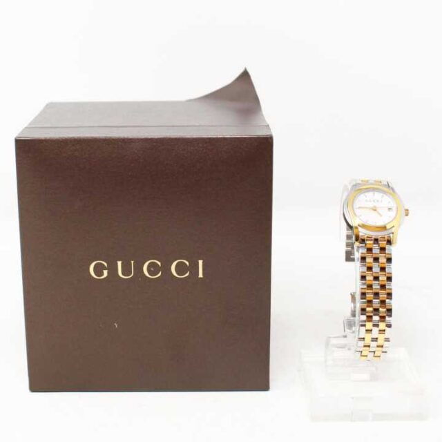 GUCCI Mother of Pearl Stainless Steal Watch 29152 5