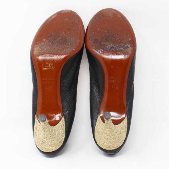 LANVIN Black Pebbled Leather Heels US 10.5 EU 40.5 29184 4