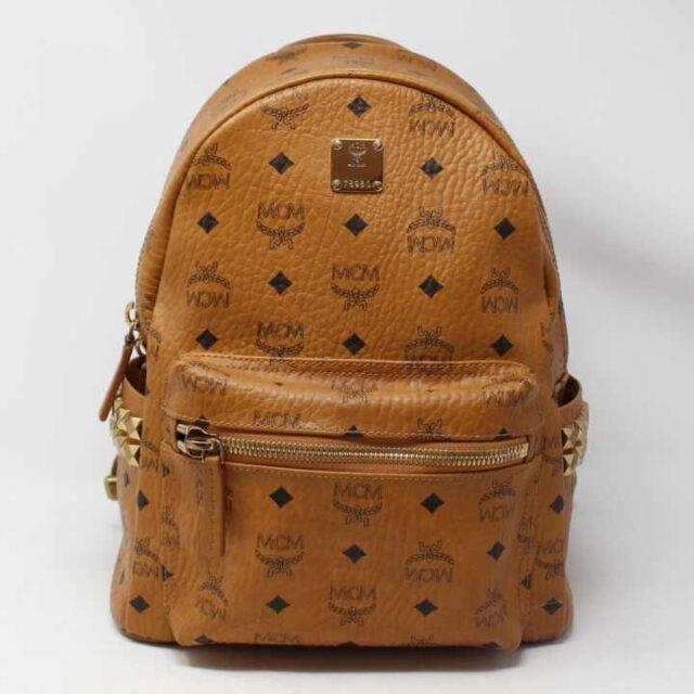 MCM Tan Leather Mini Backpack 29120 1 1