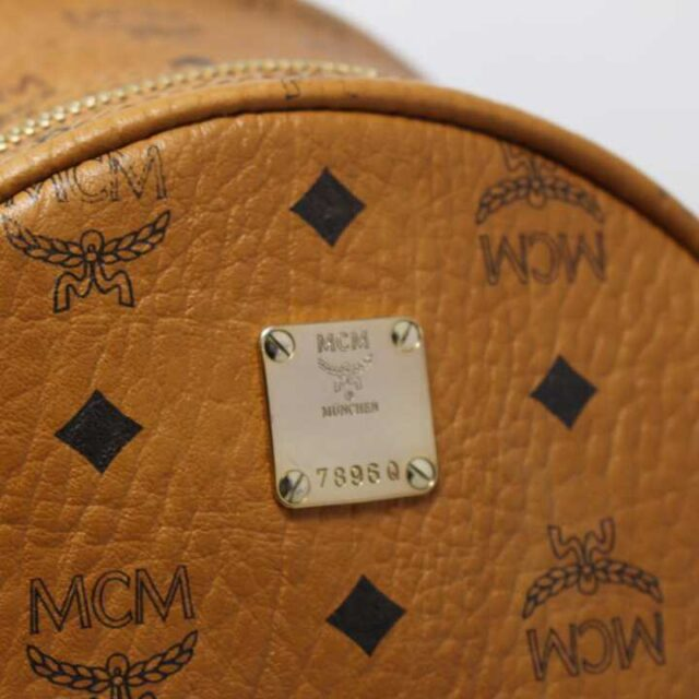 MCM Tan Leather Mini Backpack 29120 4