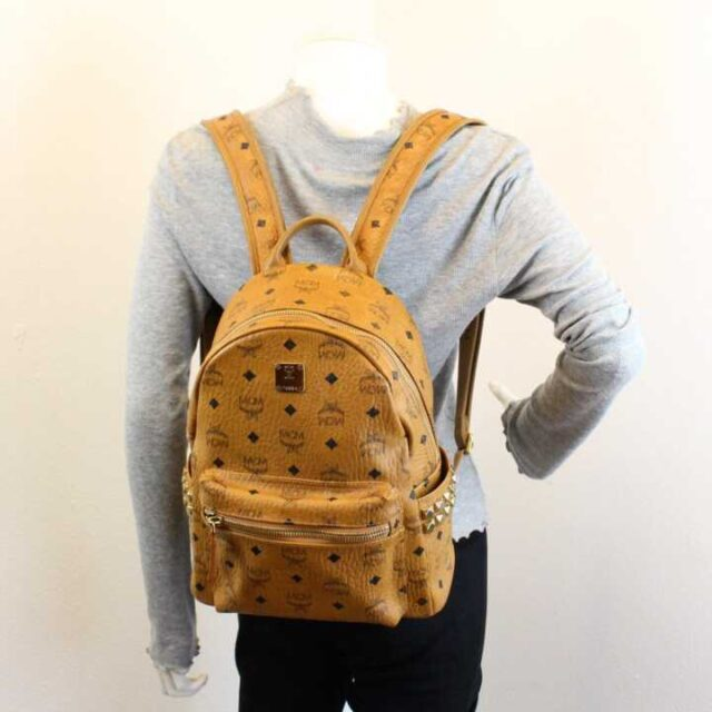 MCM Tan Leather Mini Backpack 29120 9