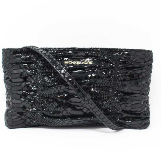 MICHAEL KORS Black Snake Print Crossbody 16538 1