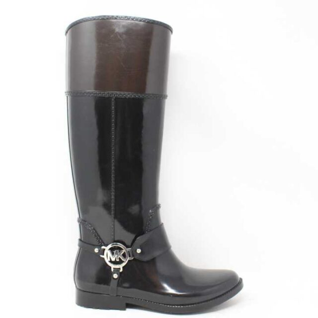 MICHAEL KORS Black and Brown Rain Boots US 6 EU 36 29170 2 1