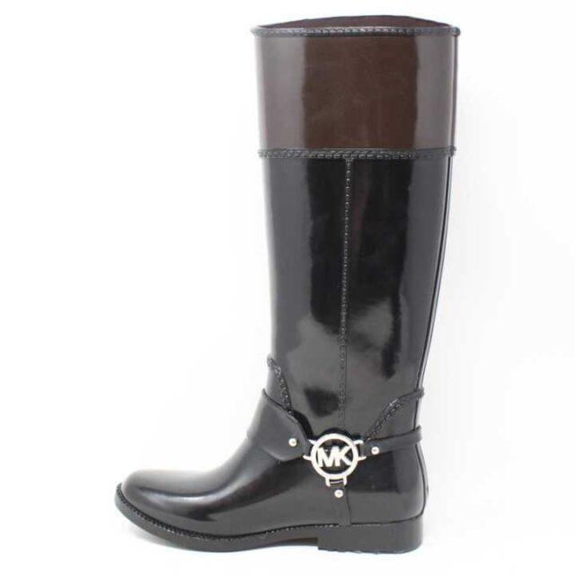 MICHAEL KORS Black and Brown Rain Boots US 6 EU 36 29170 3