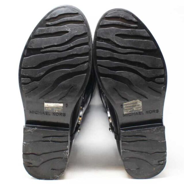 MICHAEL KORS Black and Brown Rain Boots US 6 EU 36 29170 4