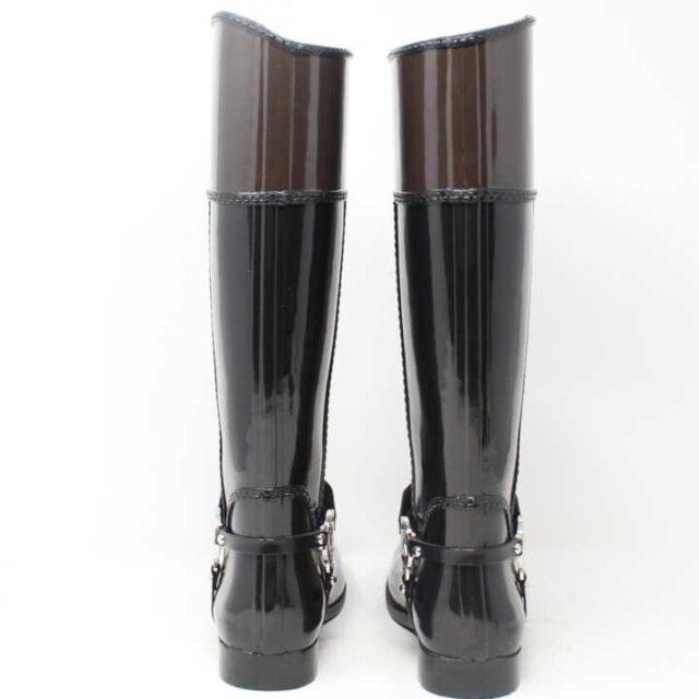 MICHAEL KORS Black and Brown Rain Boots US 6 EU 36 29170 6
