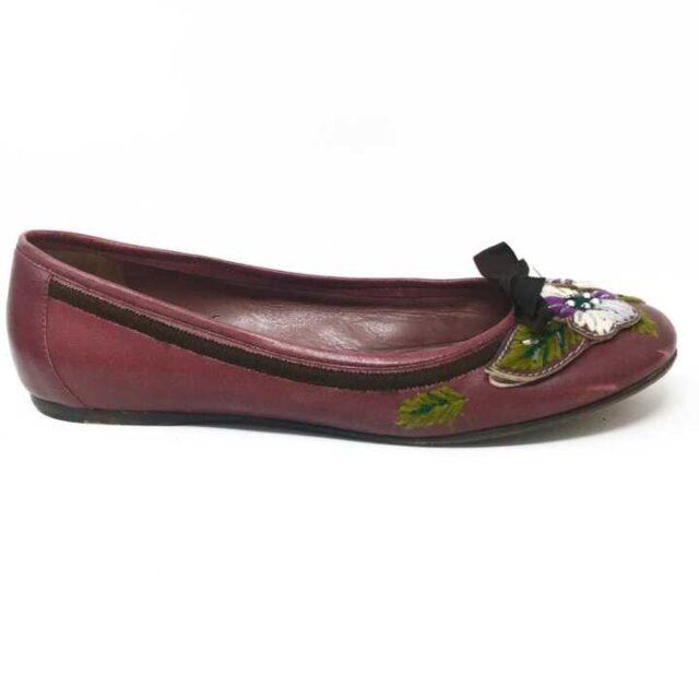 MUI MUI Purple Floral Flats US 8 EU 38 29242 2