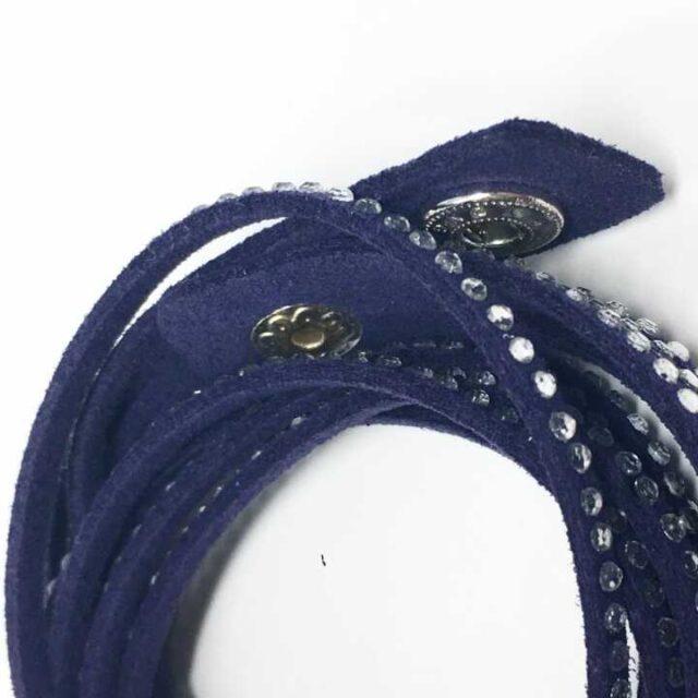 SWAROVSKI Blue Leather Wrap Bracelet 29199 3