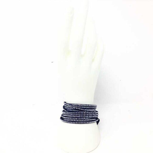 SWAROVSKI Blue Leather Wrap Bracelet 29199 4