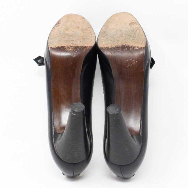 TUART WEITZMAN Black Leather Pumps US 7.5 EU 37.5 29185 4