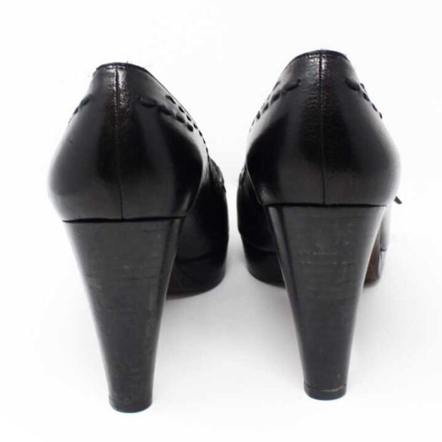 TUART WEITZMAN Black Leather Pumps US 7.5 EU 37.5 29185 6