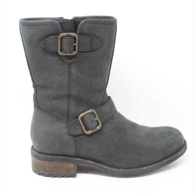 UGG Grey Velvet Boots US 6.5 EU 36.5 29172 2