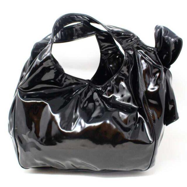 VALENTINO GARAVANI Black Patent Leather Handbag 29104 3
