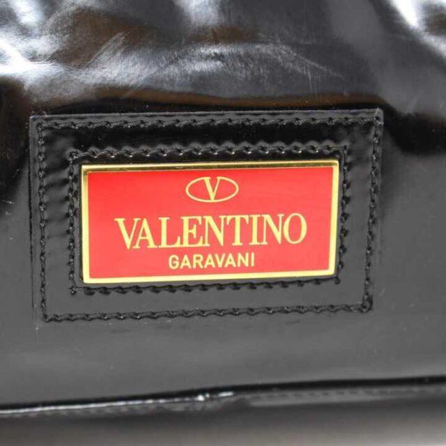 VALENTINO GARAVANI Black Patent Leather Handbag 29104 6