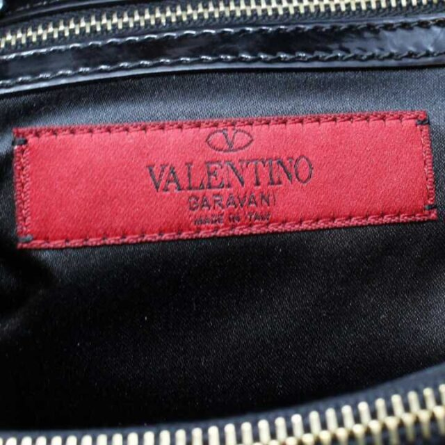 VALENTINO GARAVANI Black Patent Leather Handbag 29104 7