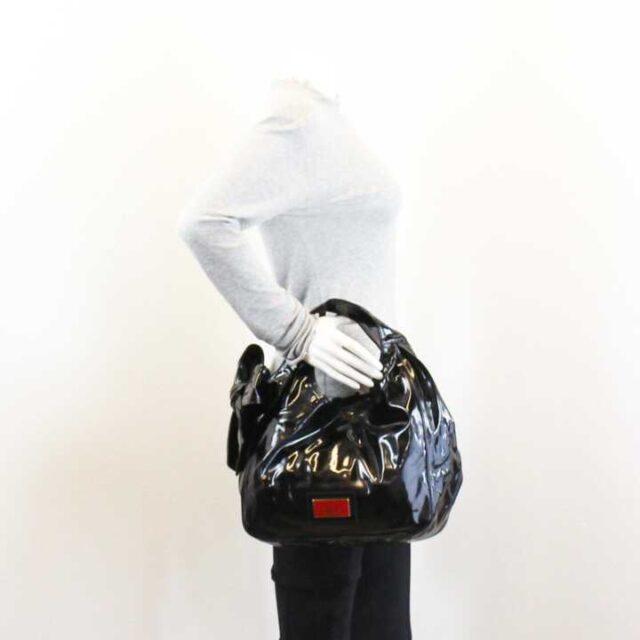 VALENTINO GARAVANI Black Patent Leather Handbag 29104 8