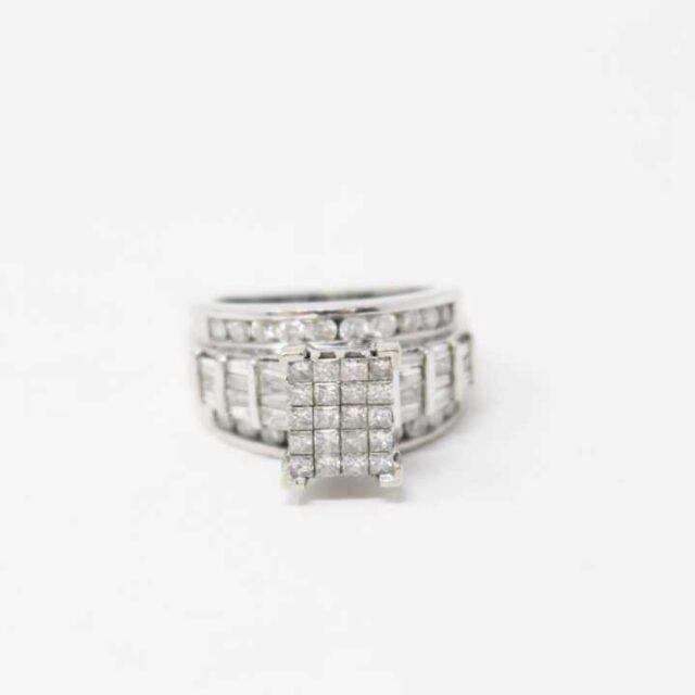 KAY 10K White Gold Cinderella Ring 29303 2