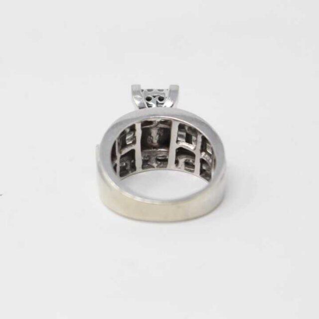 KAY 10K White Gold Cinderella Ring 29303 3