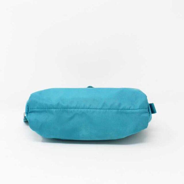 PRADA Blue Nylon Small Cosmetic Bag 29342 2