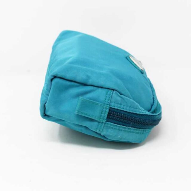PRADA Blue Nylon Small Cosmetic Bag 29342 3