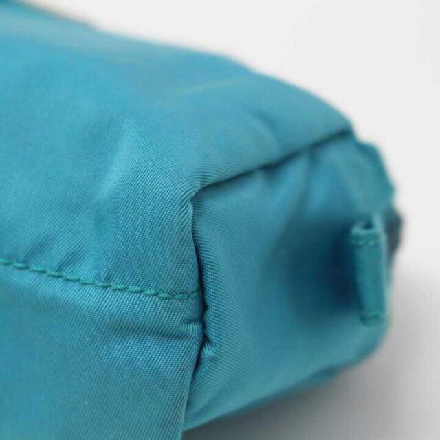 PRADA Blue Nylon Small Cosmetic Bag 29342 6