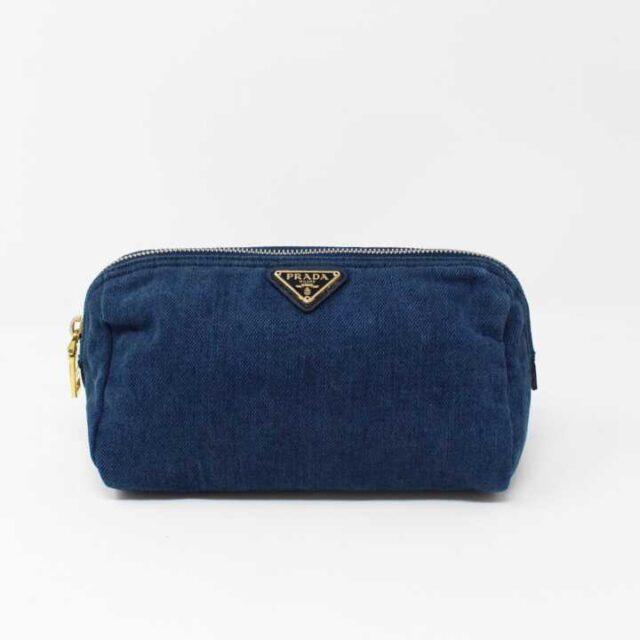 PRADA Denim Cosmetic Bag 29350 1