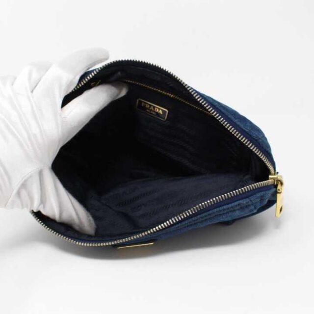 PRADA Denim Cosmetic Bag 29350 2