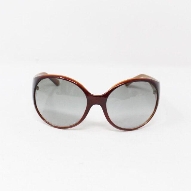 CHANEL Maroon Crystal Oval Sunglasses 30152 3