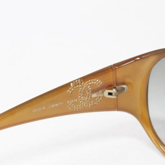 CHANEL Maroon Crystal Oval Sunglasses 30152 6