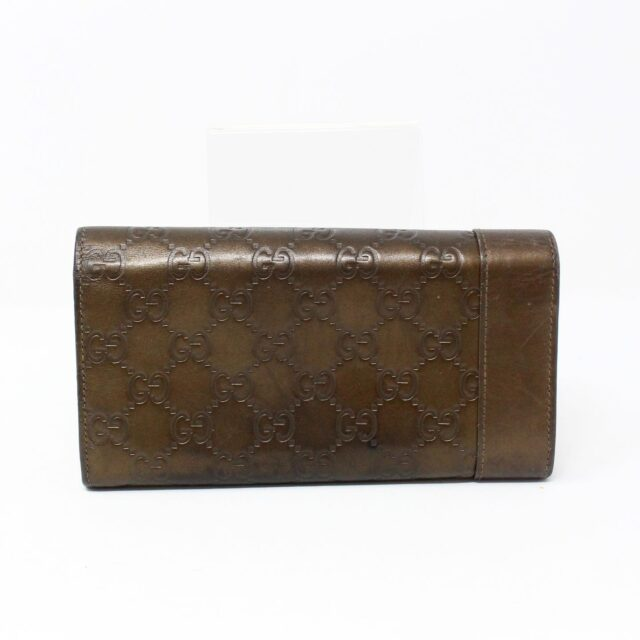 GUCCI 30051 Bronze Guccissima Leather Heart Charm Wallet 2
