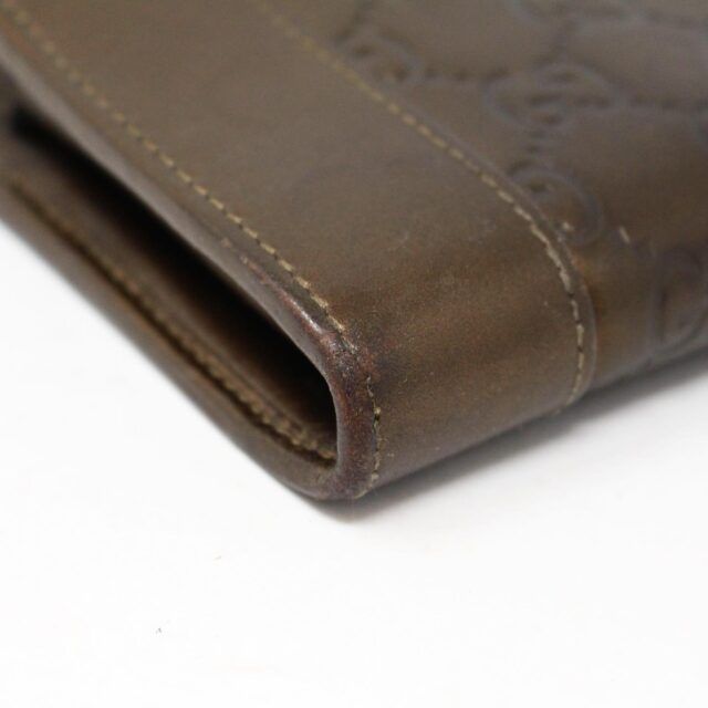 GUCCI 30051 Bronze Guccissima Leather Heart Charm Wallet 5