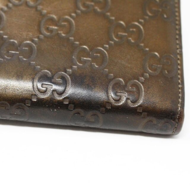 GUCCI 30051 Bronze Guccissima Leather Heart Charm Wallet 7