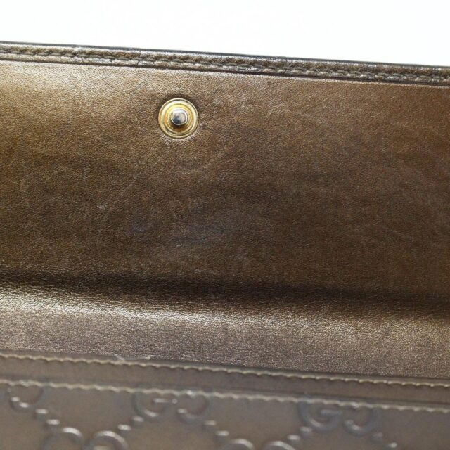 GUCCI 30051 Bronze Guccissima Leather Heart Charm Wallet 9