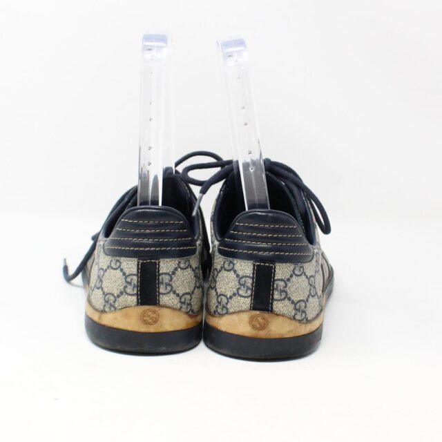 GUCCI GG 30113 Mens Beige Black Canvas Sneakers US 8.5 EU 38.5 3