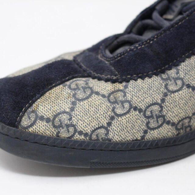GUCCI GG 30113 Mens Beige Black Canvas Sneakers US 8.5 EU 38.5 5