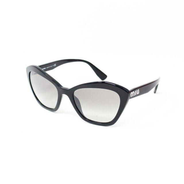 MIU MIU 30073 Black Cat Eye Sunglasses 1