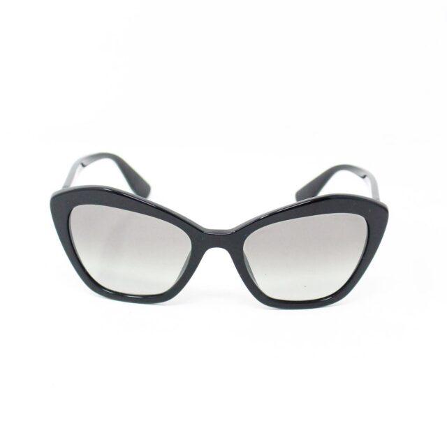 MIU MIU 30073 Black Cat Eye Sunglasses 2