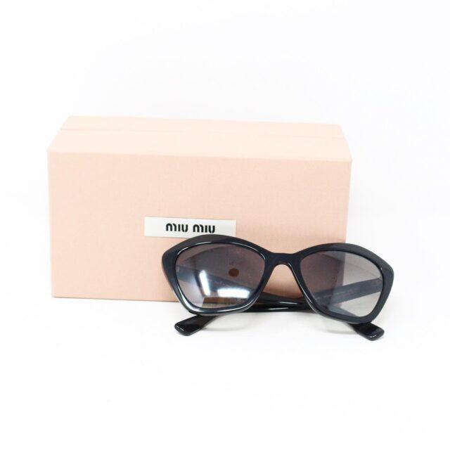 MIU MIU 30073 Black Cat Eye Sunglasses 5