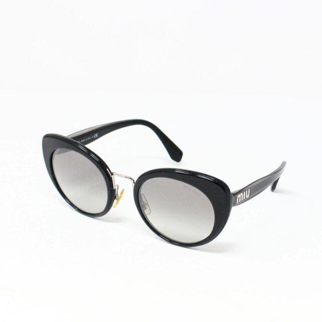 MIU MIU 30074 Black Gold Nose Oval Cat Eye Sunglasses 1