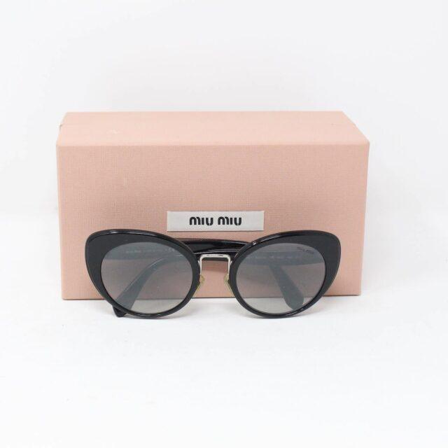 MIU MIU 30074 Black Gold Nose Oval Cat Eye Sunglasses 4