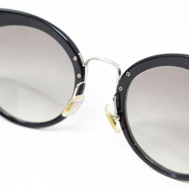 MIU MIU 30074 Black Gold Nose Oval Cat Eye Sunglasses 5