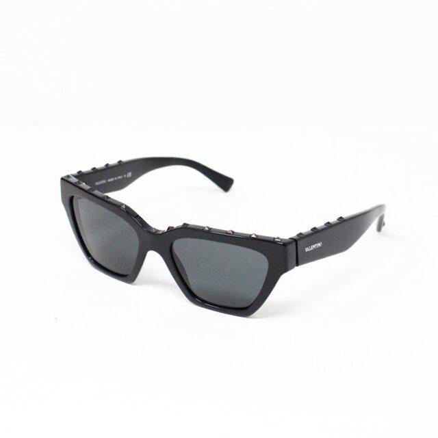 VALENTINO 30059 Black Studded Cat Eye Sunglasses 1