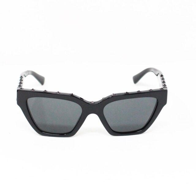 VALENTINO 30059 Black Studded Cat Eye Sunglasses 3