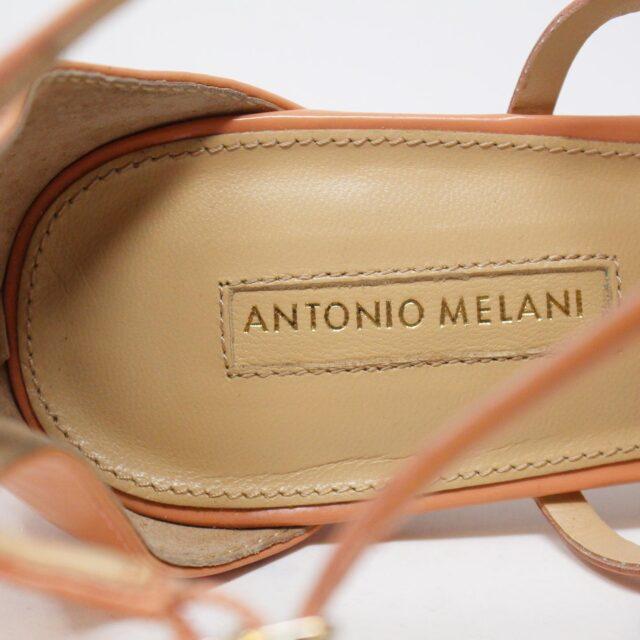 ANTONIO MELANI 30497 Peach Patent Leather Heels US 10 EU 40 5