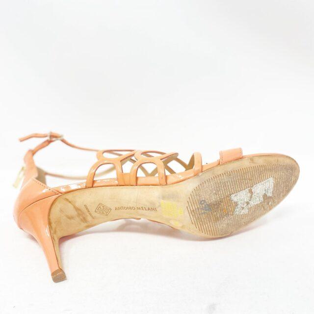 ANTONIO MELANI 30497 Peach Patent Leather Heels US 10 EU 40 6