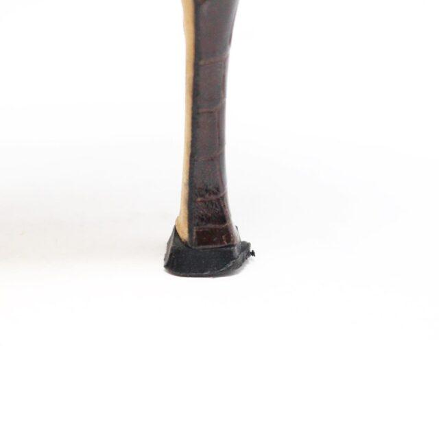 MANOLO BLAHNIK 30536 Brown Leather Slingback Croc Heels US 11 EU 42 5
