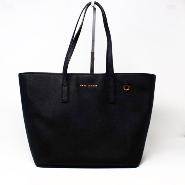 MARC JACOBS 30219 Black Saffiano Leather Tote 1