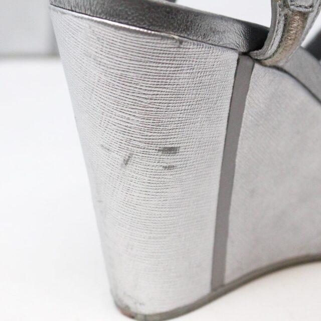 PRADA 30662 Silver Metallic Wedges US 8 EU 38 10